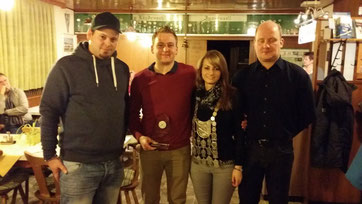 v. l. Alex Wasl, Michael Artinger, Julia Baumann, Christian Preiß