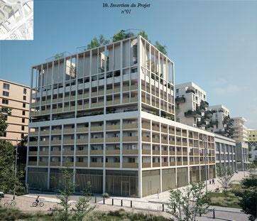 Projet d'habitat participatif quartier Belcier à Bordeaux