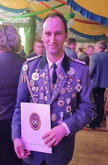 Oliver Söhl, 3. Landekönigsschießen 2018  (Foto Offermann)