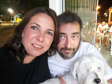 Drako with Maria and Ismaël, from Madrid