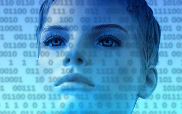 Digitale Frau