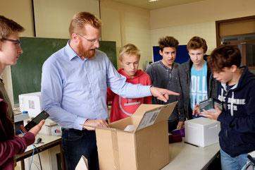 Markus Gruber bei der Optimierung der Abläufe