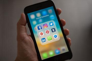 soziale Netzwerke auf Smartphone