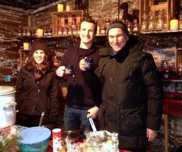 Waffelverkauf auf dem Weihnachtsmarkt
