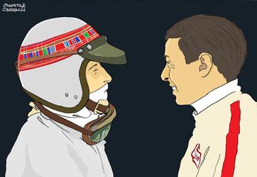 Jim Clark y Jackie Stewart by Muneta & Cerracín