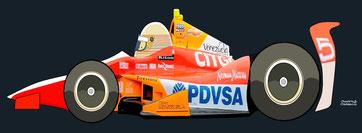 Ernesto Viso by Muneta & Cerracín - Dallara Chevrolet del equipo Andretti Autosport Team Venezuela