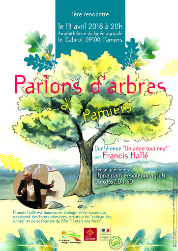 affiche, manifestation, nature, arbre, aquarelle, illustration, paysage