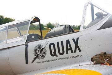 Die DHC-1 Chipmunk ist eine von insgesamt neun Flugzeugen, mit denen die Quaxe nach Wershofen kommen werden. (Foto: Stefan Schmoll)