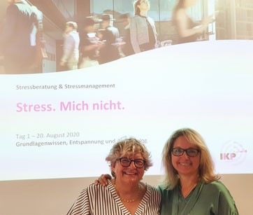 Sonja Hiltebrand und Christina Stäheli, Leiterinnen des Stressmanagement-Seminars