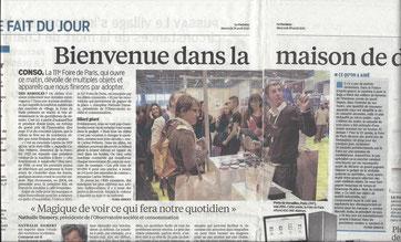 Stand Ofyl - Le Parisien du 29 avril 2015