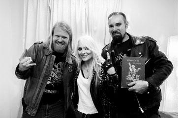 Doro Pesch, Holger Schmenk und Christian Krumm auf dem Rock Hard Festival 2015