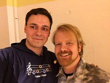 Johannes Hinrich von Borstel und Christian Krumm in Dortmund