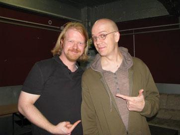 Devin Townsend und Christian Krumm in der Kölner Essigfabrik