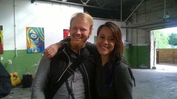 Christian Krumm und Jen Majura (Evanescence), Foto: privat
