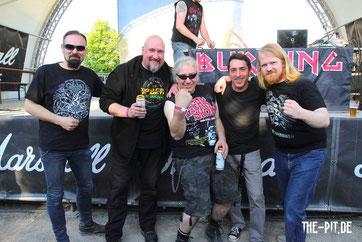 Refuge, Holger Schmenk und Christian Krumm auf dem Rock Hard Festival 2015
