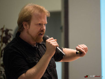Johan Huizinga Vortrag beim Science Slam
