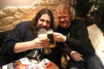 Till Burgwächter und Christian Krumm im Blackend in Dortmund