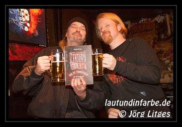 Martin van Drunen und Christian Krumm im Café Nord Essen