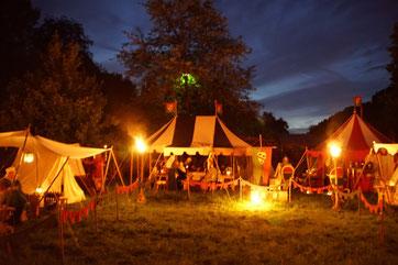 Das Lager der Arenbacher am Freitagabend