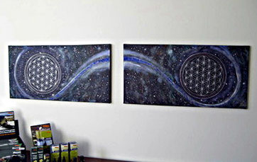 Doppelbild-Acryl auf Leinwand  Miramonti BoutiQue Hotel  5 Sterne Hotel  in Hafling bei Meran