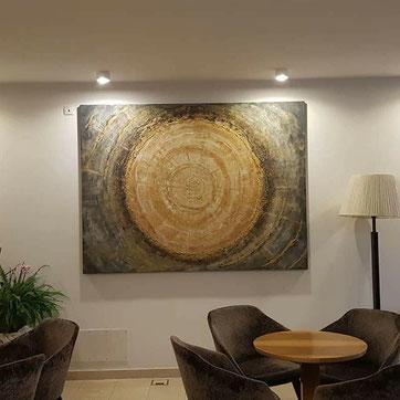 Leinwandbild 200x150cm  Es schmückt den Eingangsbereich  vom Hotel Mondschein in Sterzing