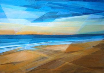 Ostsee, Acryl auf Leinwand, 70 x 100 cm, 2016