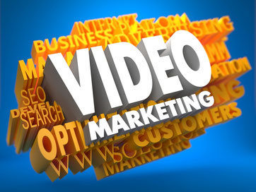 Video-Marketing in Tag-Cloud verschiedener Online-Marketing-Begriffe wie SOE, Marketing oder Advertising