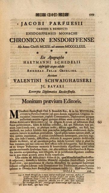 BSB M: Parfueß-Chronik bei Oefele, S. 579.