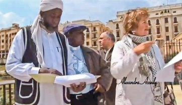 Imam Muhammad Ashafam,  Pastor James Wuye and Alexandra Asseily in Beirut