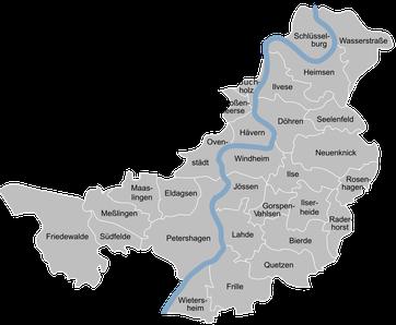 Ortsteile der Stadt Petershage / Bildquelle: Wikipedia.de / Ingo 2802