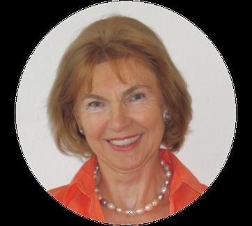 Heilpraktikerin Ortrud Hannemann ist auf einem runden Portrait Foto zu sehen