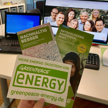 Flyer von Greenpeace Energy.