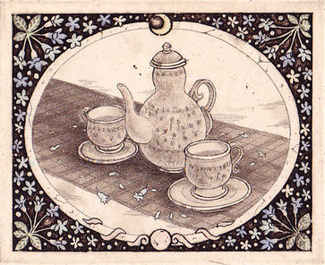 jasmine  腐蝕銅版画  インク/ヨシ紙  8×10cm