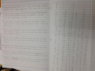 僕のがんばりを見て!!!ノートいっぱいの単語練習