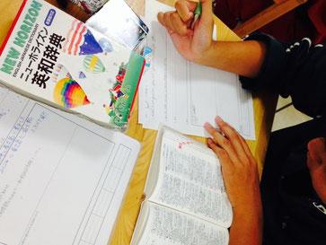 学力テスト英語を五文型に品詞分解しています。テスト問題は最高の問題集にもなるのです。