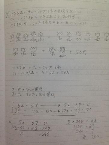 連立方程式でも文章題は絵図化して解く!