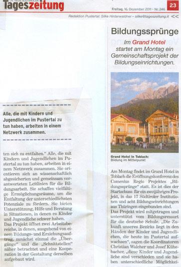 Tageszeitung 16.12.2011