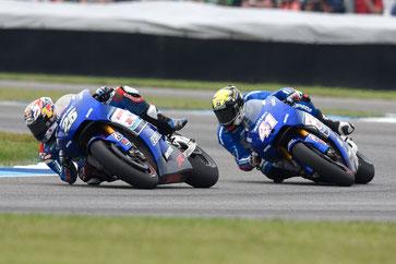 Maverick Vinales und Aleix Espargaro in der MotoGP in Indianapolis