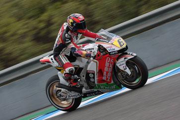 Stefan Bradl auf einer LCR Honda in der MotoGP