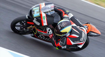 Matt Barton in der Moto3 2015 in Australien