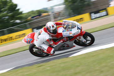 Stefan Bradl 2008 in der damaligen 125er Klasse in Donington