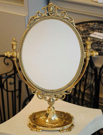 スタンドミラー 卓上鏡 イタリア製 ミラー 鏡 アンティーク クラシック 真鍮製 輸入インテリア スティラーズ STILARS