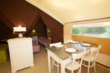 glamping in Dordogne : slapen onder tentdoek