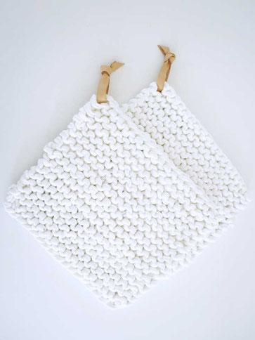 Untersetzter stricken aus Textilgarn mit Strickset von Wooltwist
