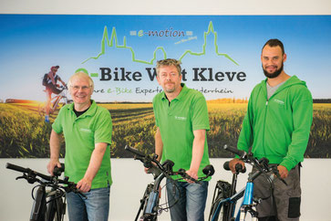 Die e-motion e-Bike Experten in der e-motion e-Bike Welt in Kleve