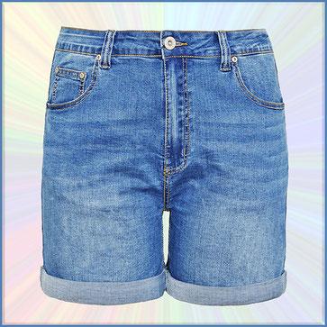 Jeans Short Damen in Übergröße