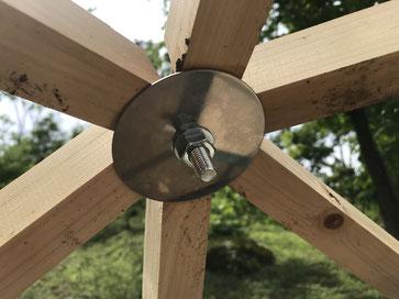 ドーム組立て金具hitode bracket専用の補強金具