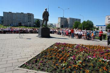 Митинг, посвященный Дню Памяти в Новоильинском районе  города Новокузнецка Кемеровской области