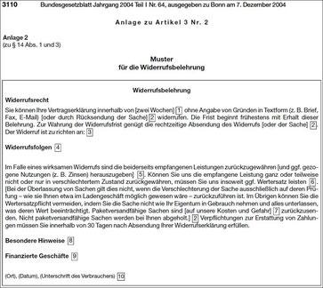 amtliche musterwiderrufsbelehrung aus dem jahre 2008 - Muster Widerrufsbelehrung Darlehensvertrag