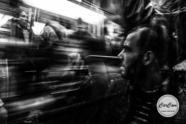 paris, métro, black and white, noir et blanc, art, street photography, CarCam